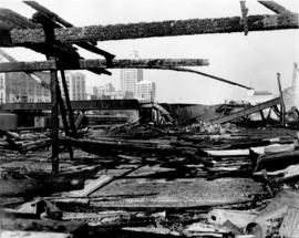 [Aftermath of fire at C.P.R. Pier D]