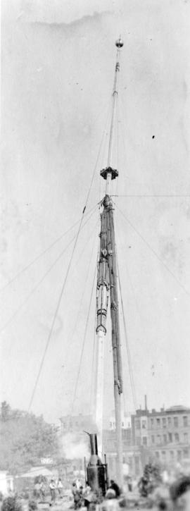 Erection of the Court House flagpole