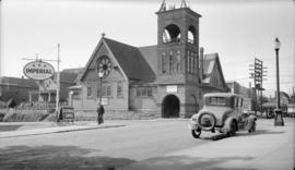 Princess St. Church [Dunlevy and East Pender Streets showing fire damage]