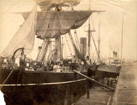 China tea ship unloading cargo at Vancouver, B.C.