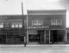 [Exterior of The Royal Bank of Canada (670), Kingsway Cleaners and Dyers (666) and a vacant store...