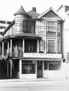 [Exterior of A.J. McBain Co. Ltd - 1968 West Georgia Street]