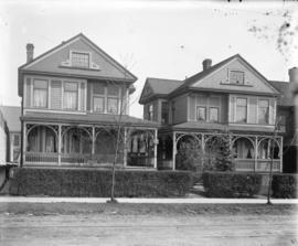 [View of two West End houses in the 800 block Broughton Street]