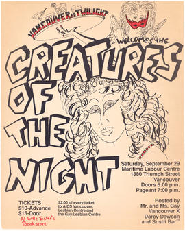 Vancouver at Twilight welcomes Creatures of the Night : Saturday, September 29 : Maritime Labour ...