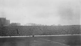 International football match - Hampden Park, Glasgow - crowd numbered 125,000