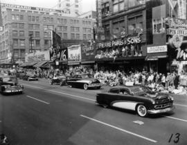 B.C. Custom Car Association cars in 1955 P.N.E. Opening Day Parade