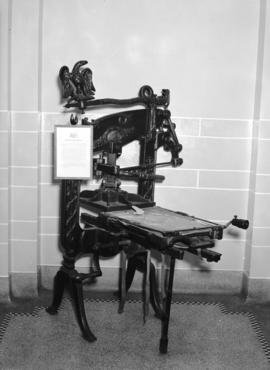 Printing Press, Provincial Government, Victoria