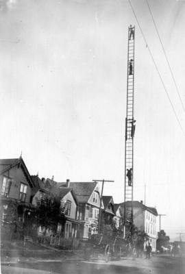 [First Fire Ladder truck, No. 2 Fire Hall]