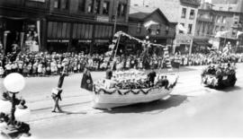 [The Canadian Japanese Association float in the Dominion Day Parade]