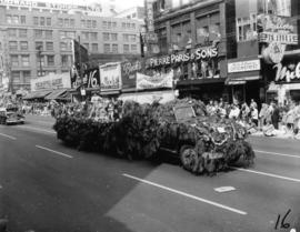 Burnaby Southern Slope Community float in 1955 P.N.E. Opening Day Parade