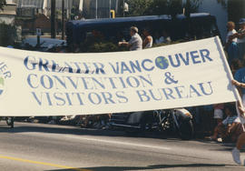Greater Vancouver Convention and Visitor Bureau parade banner