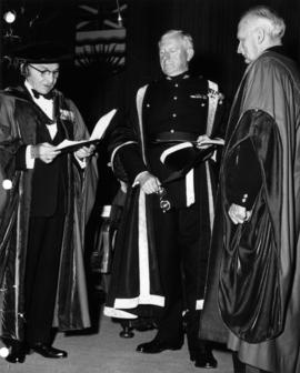 Chief Justice Sherwood Lett, reading a citation to Field Marshal Montgomery