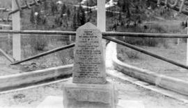 The monument [at the Great Divide sign]
