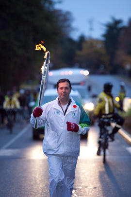 Day 001, torchbearer no. 110, Loring Phinney - Oak Bay