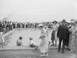 Opening of Bentall swimming pool, Picture Butte, Alberta
