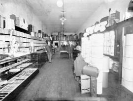 Interior of an unidentified haberdashers