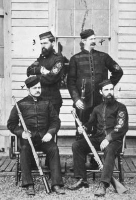 [Prize winners of the B.C. Rifle Association competition at Clover Point]
