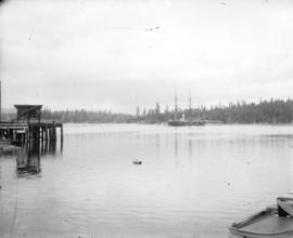 [Dock and ship in Esquimalt harbour]