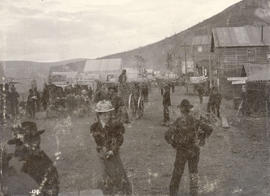A street in Dawson City during the Klondike Gold Rush