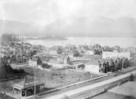 [Looking northwest from the Hotel Vancouver on the corner of Granville Street and Georgia Street]