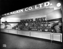 W.H. Malkin Co. display of food products