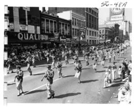 Marching band in 1956 P.N.E. Opening Day Parade