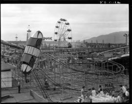 Amusement rides in P.N.E. Playland