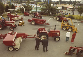 International Harvester Co. display of agricultural machinery