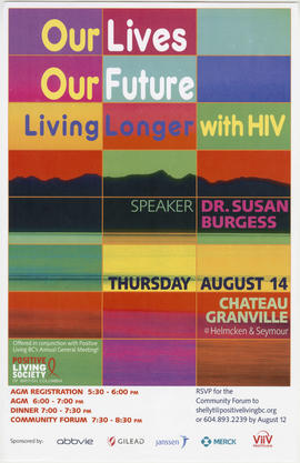 Our lives, our future : living longer with HIV [with] speaker Dr. Susan Burgess