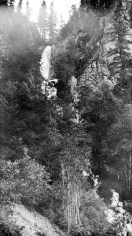 A falls on the Cariboo Hiway