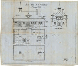 Plan of Stable for B.T. Rogers Esquire