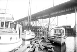 Boats under Granville Street Bridge
