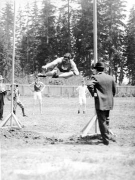 Archie McDiarmid high jumping