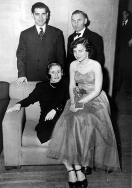 Group including Sherwood Lett and his daughter Frances