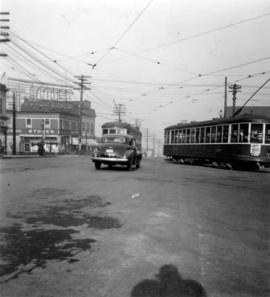 Streetcar on Kingsway at Main Street
