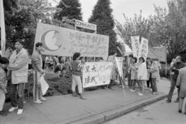 Chinese marchers in Vancouver Peace March