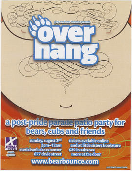 Grip and Bear Bounce present Overhang : a post pride parade patio party for bears, cubs and friends