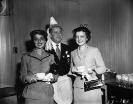 P.N.E. Vice-President T.R. Fyfe and ladies at tea party