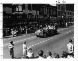 Maple Ridge decorated car in 1956 P.N.E. Opening Day Parade