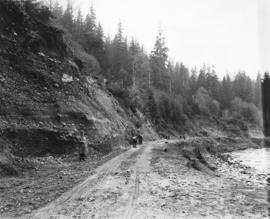 [Clearing the road after the Seymour Creek washout]