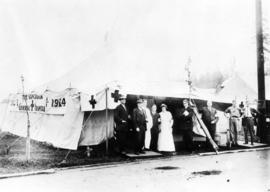 The tent hospital provided for the Vancouver Exhibition by the Vancouver General Hospital, 1914