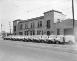 McGavin [Limited Bakery] fleet [of trucks in front of 2106 West Broadway]
