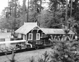 [The miniature train and Stanley Park Junction during the 75th Anniversary celebrations of the park]