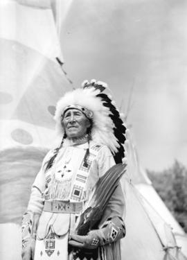 [Portrait of Stoney Indian Chief at the Calgary Stampede]