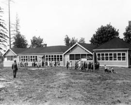Open Air School at East 20th and Clark Drive with children on school grounds