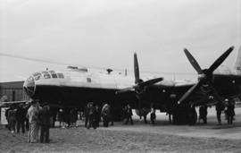 [A B-39 Bomber on display at airshow]