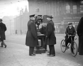 Opening of traffic control box