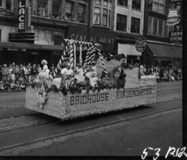 Brighouse Kindergarten float in 1953 P.N.E. Opening Day Parade