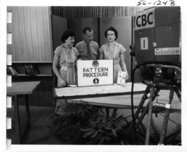 4-H Pattern Procedure demonstration, likely part of 1956 P.N.E. Home Arts show