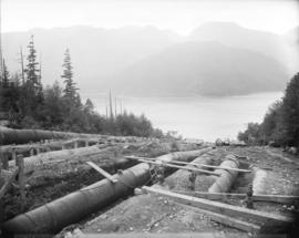 [Replacement of upper sections of wood stove penstocks for Buntzen Lake Power Plant number one]